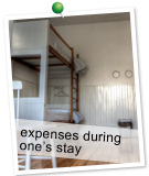 滞在方法イメージ「expenses during one's stay」